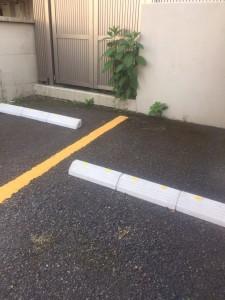 201705駐車場車止め③