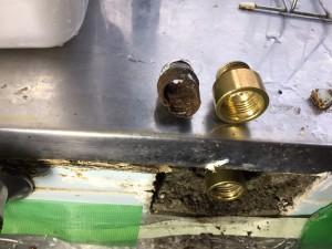 2017.06台所水道管漏水②