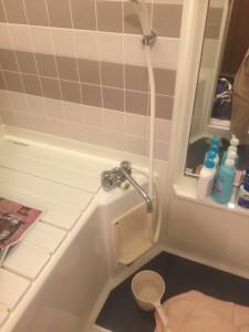 お風呂蛇口交換①