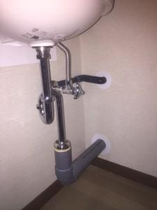 手洗い器増設③