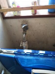 長田邸-洗濯水栓①